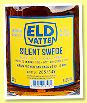 Silent Swede 2012/2018 'Virgin French Oak' (61.9%, Svenska Eldvatten, 348 bottles)