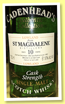 St. Magdalene 10 yo 1982/1993 (61.6%, Cadenhead, Authentic Collection)