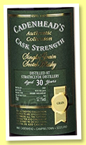 Strathclyde 30 yo 1989/2019 (52.1%, Cadenhead, Authentic Collection, 162 bottles)