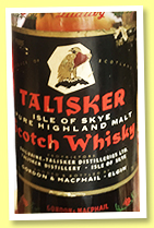 Talisker 1964 (100°proof, Gordon & MacPhail, 26 2/3 fl oz, +/-1975)