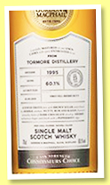 Tormore 23 yo 1995/2018 (60.1%, Gordon & MacPhail, Connoisseurs Choice, 1st fill sherry butt, cask #5383, 615 bottles)