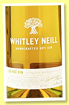 Whitley Neil 'Quince Gin' (43%, OB, +/-2018)