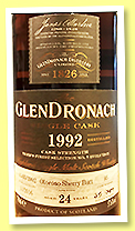Glendronach 24 yo 1992/2016 (57.6%, OB, for Tiger's Finest Selection Taiwan, oloroso sherry butt, cask #95, 589 bottles)