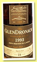 Glendronach 24 yo 1993/2017 (53.5%, OB for Andy's Selection, Taiwan, sherry butt, cask #407, 633 bottles)