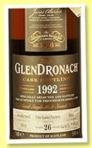 Glendronach 26 yo 1992/2018 (51.8%, OB for The Whisky Barrel, PX puncheon, cask #8314, 720 bottles)