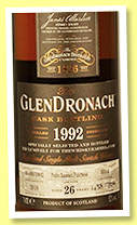 Glendronach 26 yo 1992/2018 (52%, OB for The Whisky Barrel, PX puncheon, cask #8314, 706 bottles)