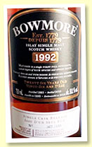 Bowmore 26 yo 1992/2018 (50.1%, OB for Canada, 1st fill sherry puncheon, 535 bottles)