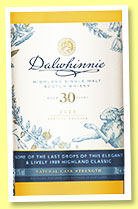 Dalwhinnie 30 yo 1989/2020 (51.9%, OB, Special Releases 2020)