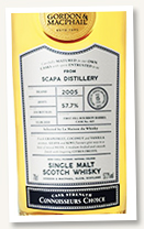 Scapa 15 yo 2005/2020 (57.7%, Gordon & MacPhail, Connoisseur's Choice, first fill bourbon barrel, for LMDW, cask #465, 234 bottles)