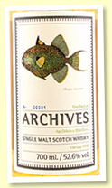 An Orkney Distillery 1998/2020 (52.6%, Archives 'The Fishes Of Samoa', cask #10, hogshead, 325 bottles)