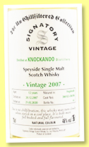 Knockando 12 yo 2007/2020 (46%, Signatory Vintage, Un-chillfiltered Collection, hogsheads, casks #304102-304106)