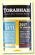 Torabhaig 2017/2020 (46%, OB, Inaugural Release, Legacy Series, first fill bourbon, cask #300-600, 32,000 bottles)