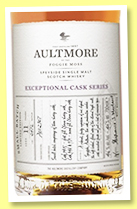 Aultmore 11 yo 'Small Batch' (46%, OB, Exceptional Cask Series, oloroso, 2472 bottles, +/-2018)