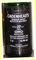 Ord 27yo 1962/1989 (55.4%, Cadenhead, distilled December)