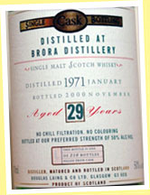 Brora 29yo 1971/2000 (50%, DL Old Malt Cask, 210 bottles)