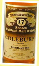 Coleburn 17yo 1965 (40%, G&M CC Old Brown Label)