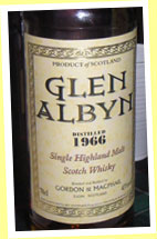 Glen Albyn 1966/2005 (43%, G&M's own label)