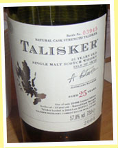 Talisker 25yo bottled in 2004 (57.9%, OB, refill casks, 21000 bottles)