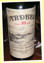 Ardbeg 10yo (80 proof, OB for France, 60's)