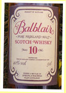 Balblair 10yo (40%, G&M licensed bottling, 1980's)