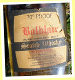 Balblair NAS (70 proof, G&M licensed bottling, 1970's)