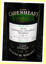 Dailuaine-Glenlivet 31yo 1966/1997 (56.8%, Cadenhead's Authentic Collection)