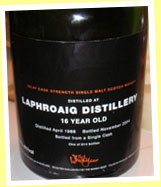 Laphroaig 16yo 1988/2004 (52.5%, The Whisky Shop, dumpy bottle, 614 bottles)