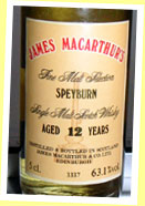 Speyburn 12yo (63.1%, James MacArthur, bottled 1992, cask #3337)