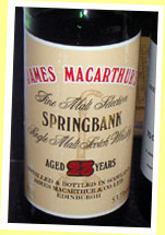 Springbank 23yo (53.7%, James MacArthur, bottled around 1989)