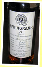 Springbank 8yo 1995/2004 (56%, OB for the Springbank Society, fresh sherry, 306 bottles)