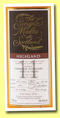 Clynelish 11yo 1994/2005 (58.9%, Single Malts of Scotland, sherry butt, cask #4011)
