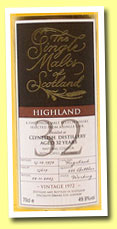 Clynelish 32yo 1972/2005 (49.9%, Single Malts of Scotland, cask #15619)
