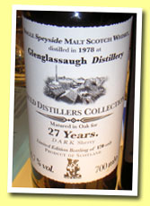 Glenglassaugh 27yo 1978/2005 (46.7%, Auld Distiller's Collection, Jack Wieber, 'Dark Sherry', 170 Bottles)
