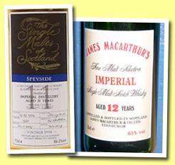 Imperial 11yo 1994/2005 (59.2%, Single Malts of Scotland, sherry butt #1537)
