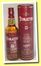 Tomatin 25yo (43%, OB, 2005 bottling)