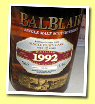 Balblair 12yo 1992/2005 (61%, OB for France, peaty single cask #3026)
