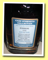 Bowmore 34yo 1970/2005 (56.6%, Signatory Cask Strength, sherry butt #4689, 287 bottles)