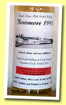 Bowmore 1995/2005 (57.2%, Whisky-Doris, bourbon cask)