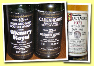 Glenury-Royal 13yo (80 proof, Cadenhead, bottled 1979)