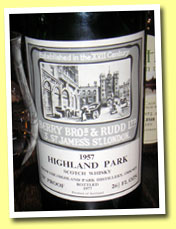 Highland Park 1957/1977 (70° proof, Berry Bros & Rudd)