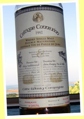 Celtique Connexion 'Vin de Paille' 1992/2004 (43%, Celtic Whisky Compagnie, 385 bottles)