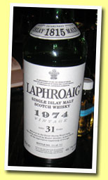 Laphroaig 31yo 1974/2005 (49.7%, OB for La Maison du Whisky, sherry, 910 bottles)