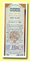 Port Ellen 17yo 1982/1999 (46%, Murray McDavid, MM 2599)