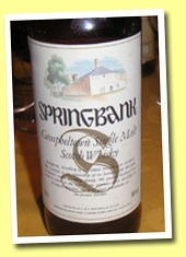 Springbank NAS (46%, OB, House and Tree label, Germany, mid 1990's)