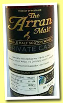 Arran 1996/2013 (55.7%, OB, Private Cask Jan Vissers, sherry hogshead, cask #1996/2013, 174 bottles)