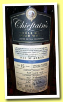 Isle of Arran 15 yo 1997/2013 (46%, Chieftain's, butt, cask #935, 786 bottles)