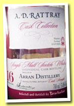 Arran 16 yo 1996/2013 (53%, A.D. Rattray for Brachadair, hogshead, cask #231, 329 bottles)