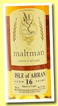 Isle of Arran 16 yo 1996/2013 (46%, The Maltman, oloroso sherry, cask #1094, 391 bottles)