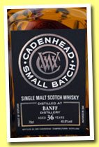 Banff 36 yo 1976/2013 (49.8%, Cadenhead, small batch, bourbon hogshead, 192 bottles)