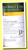 Banff 32 yo 1975/2008 (44.2%, Douglas Laing Old Malt Cask, cask ref #4174, Rhône Valley Red Wine Finish, 117 bottles)